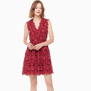 Kate Spade Bicolor Lace Dress Floral Embroidered